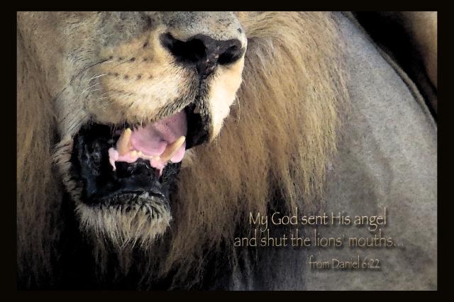 lions' mouths
